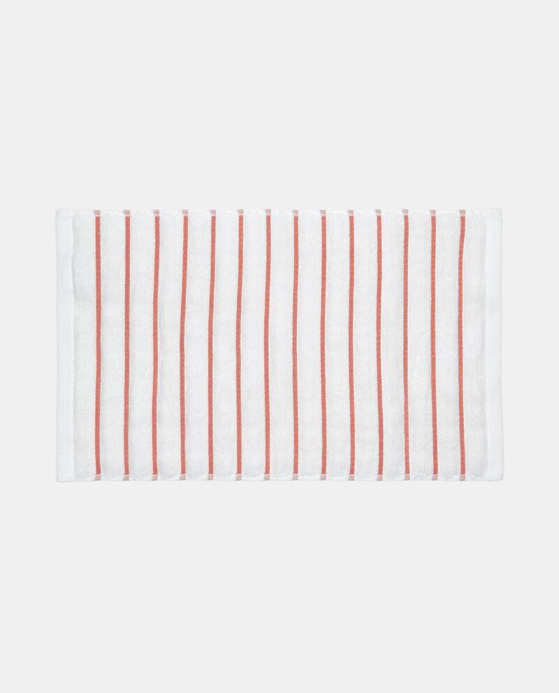 Asciugamano ospite a righe in puro cotone single tile 1