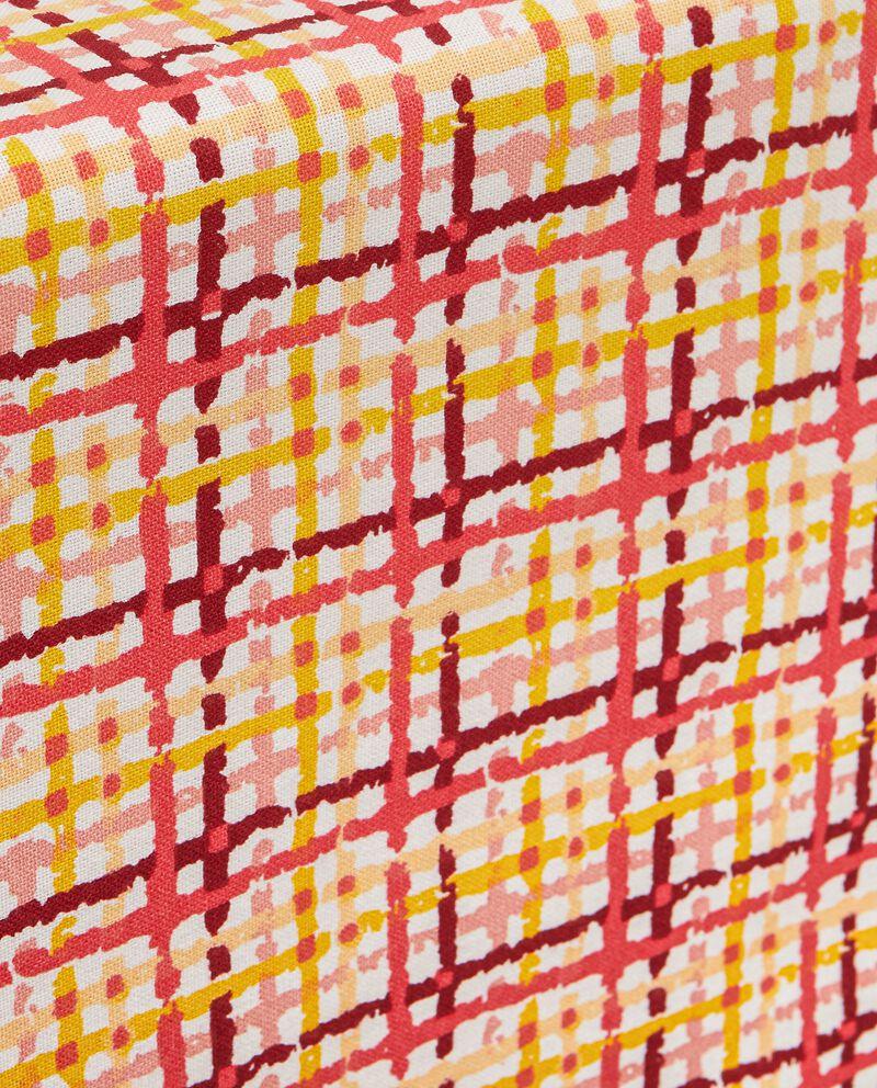 Runner a quadri in puro cotone single tile 1