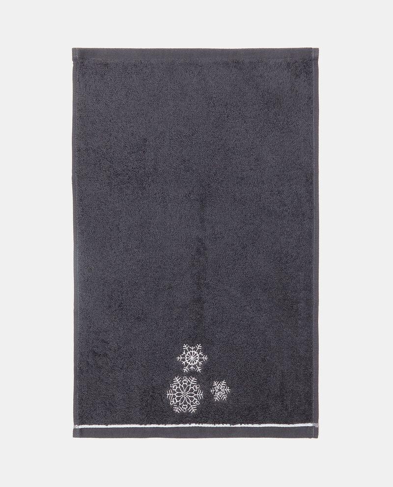 Set asciugamani in puro cotone con ricamo fiocchi di neve