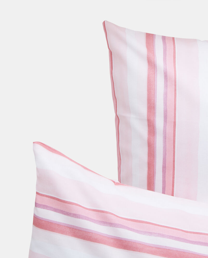 Parure lenzuola in cotone fantasia righe