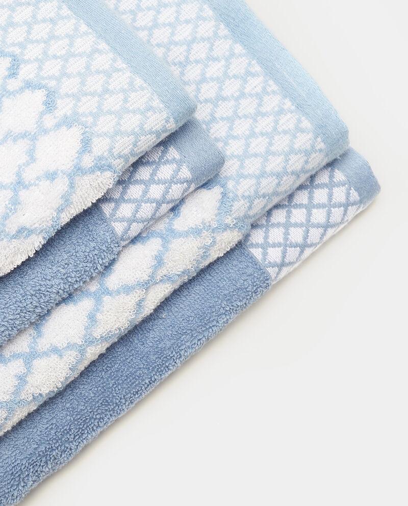Set quattro asciugamani puro cotone