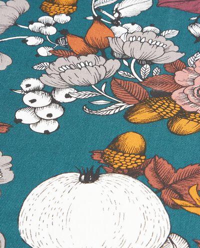 Tovaglia a fantasia floreale di puro cotone