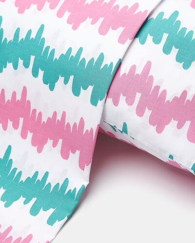Parure lenzuolo stampa pixel in puro cotone