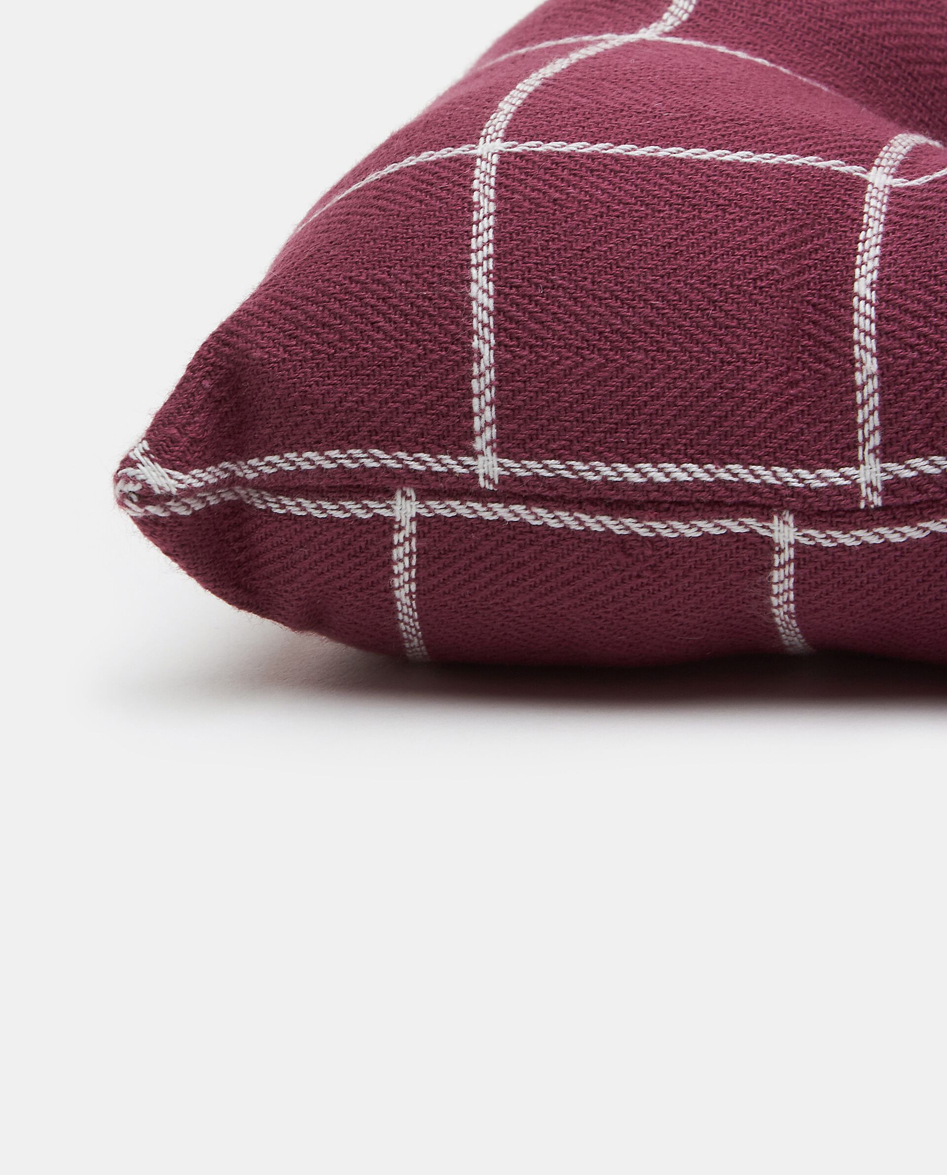 Cuscino a quadri con esterno in puro cotone