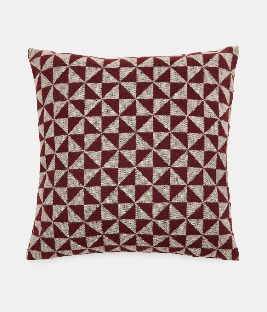 Cuscino wool con stampa geometrica double 1