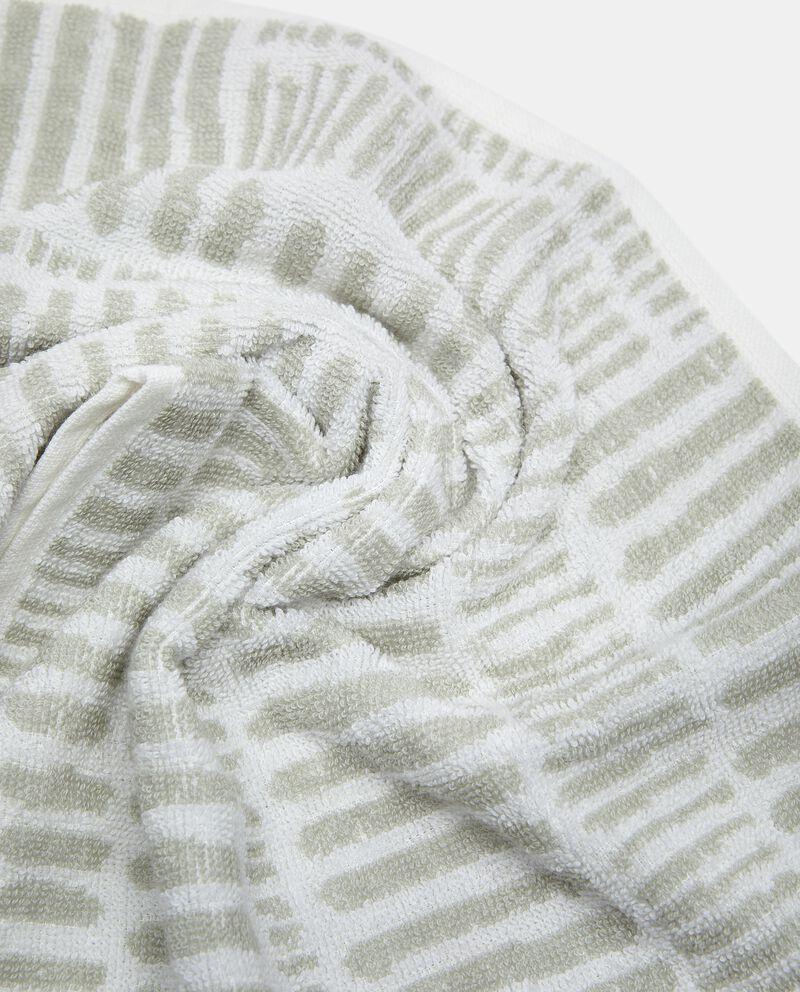 Asciugamano ospite a righine in puro cotone single tile 1
