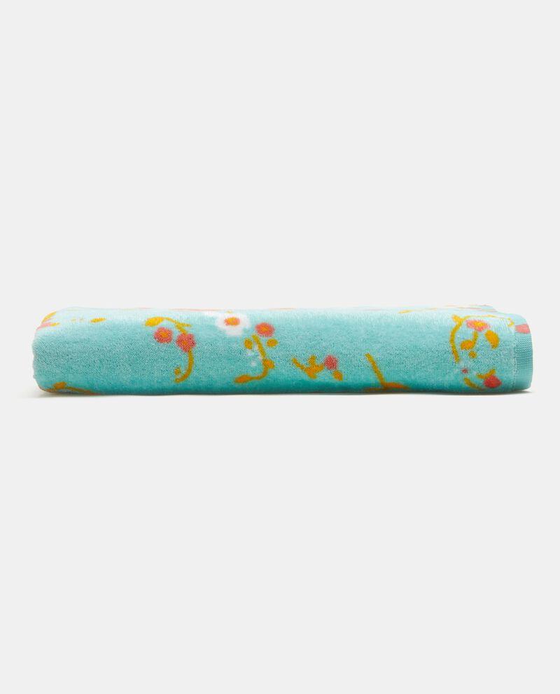 Telo in puro cotone con stampa floreale cover