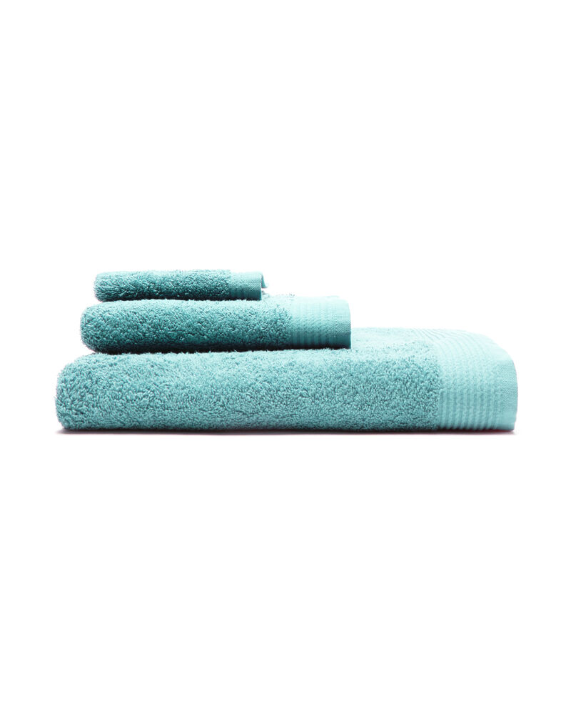 Asciugamano viso bordatura rigata