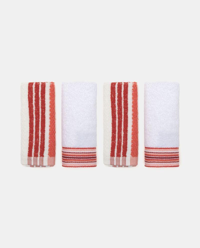 Set quattro lavette cotone righe verticali