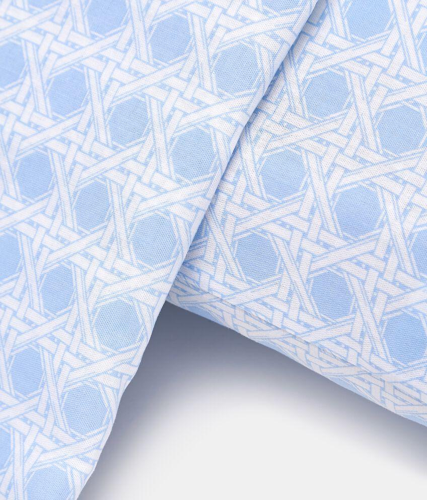 Lenzuola puro cotone con fantasia geometrica