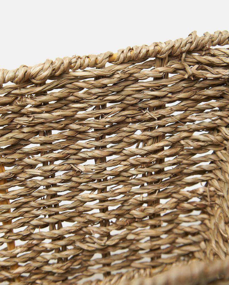Cesto con manici in fibra naturale vegetale