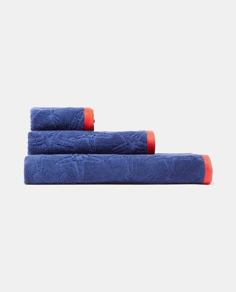 Asciugamano con stella marina in puro cotone