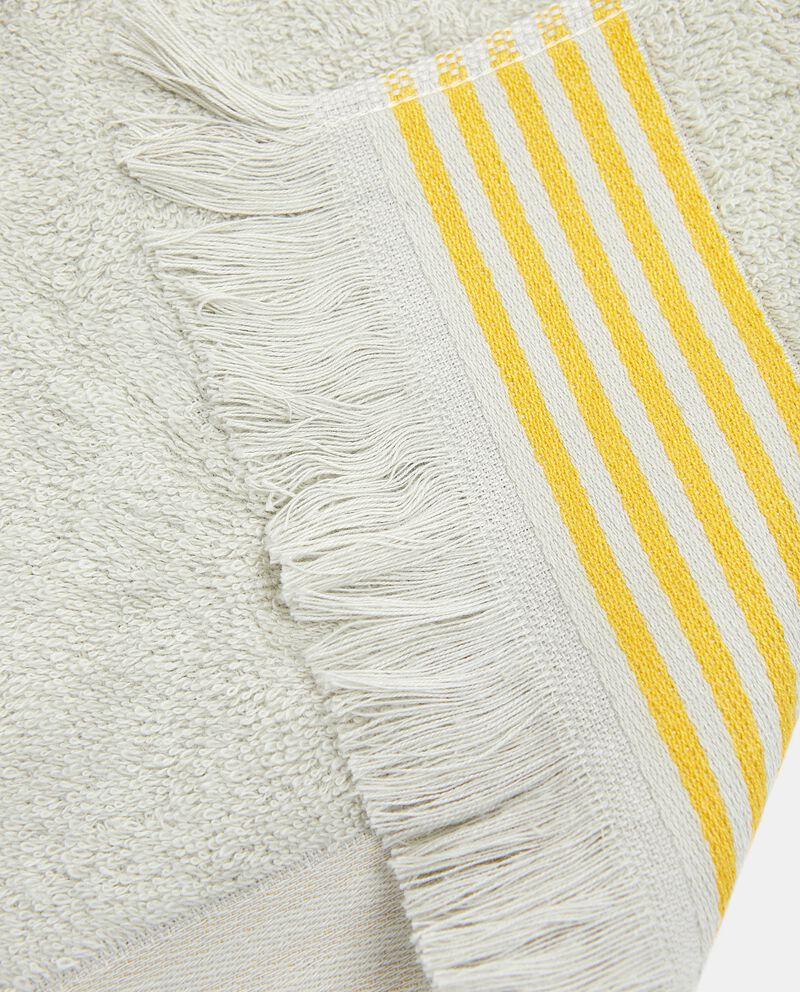 Asciugamano ospite con bordo a righe in puro cotone single tile 1