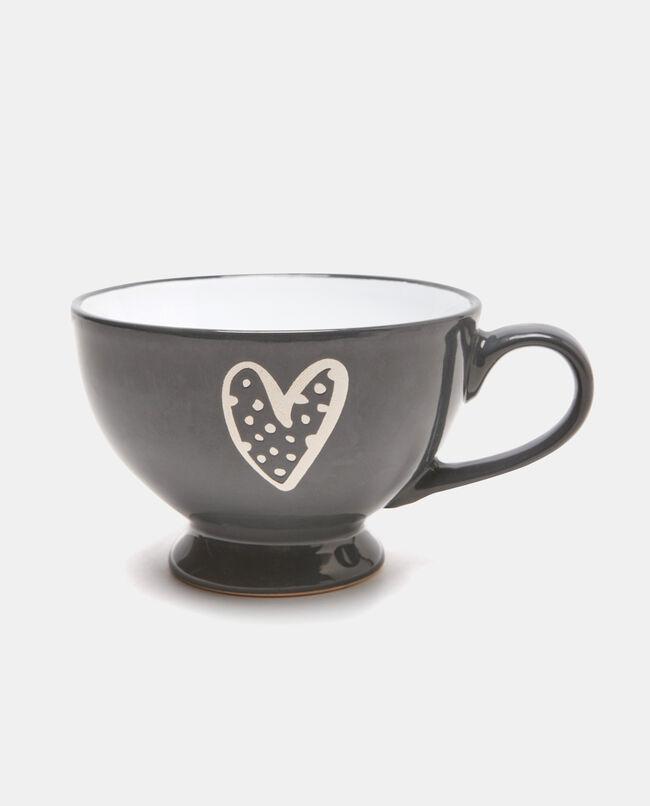Tazza colazione in ceramica cuore