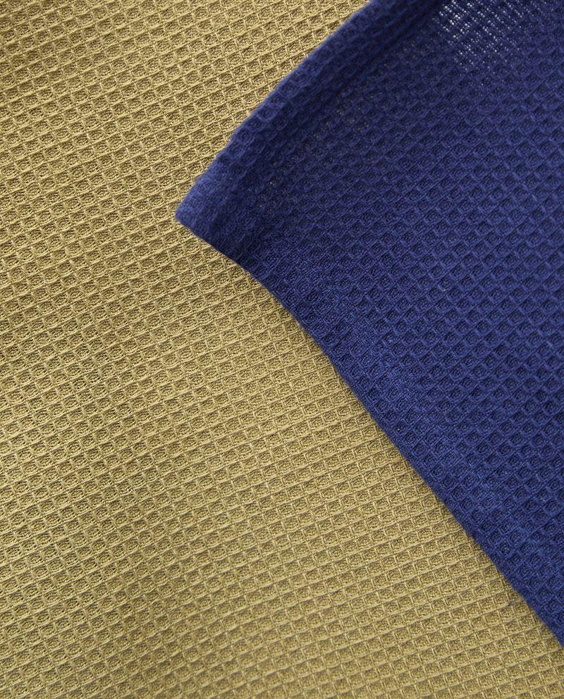 Set con due strofinacci tinta unita puro cotone single tile 1