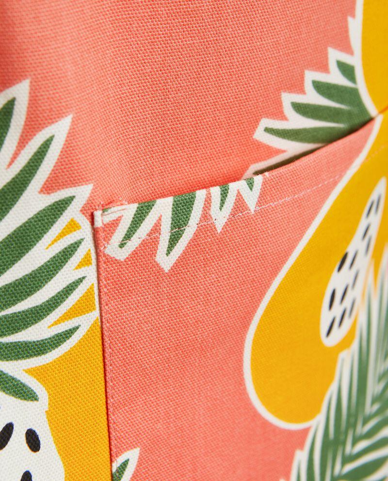 Grembiule con stampa papaya in puro cotone