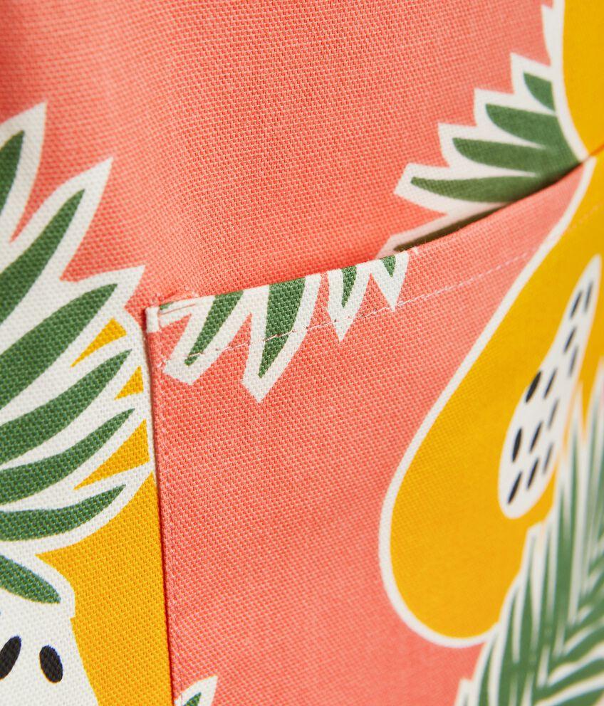 Grembiule con stampa papaya in puro cotone double 2