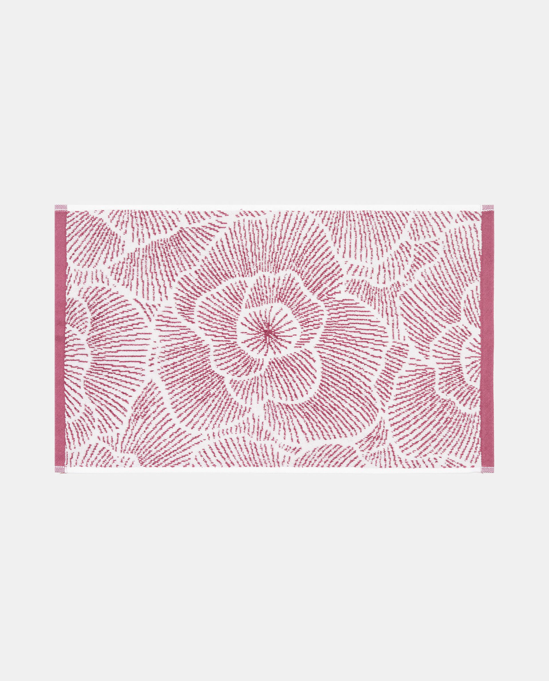 Asciugamano in puro cotone con fantasia rose