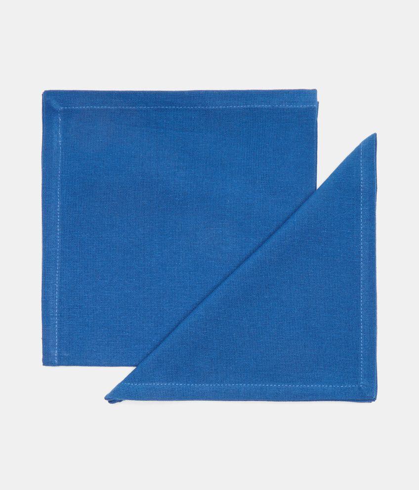 Bipack 2 tovaglioli tinta unita in puro cotone