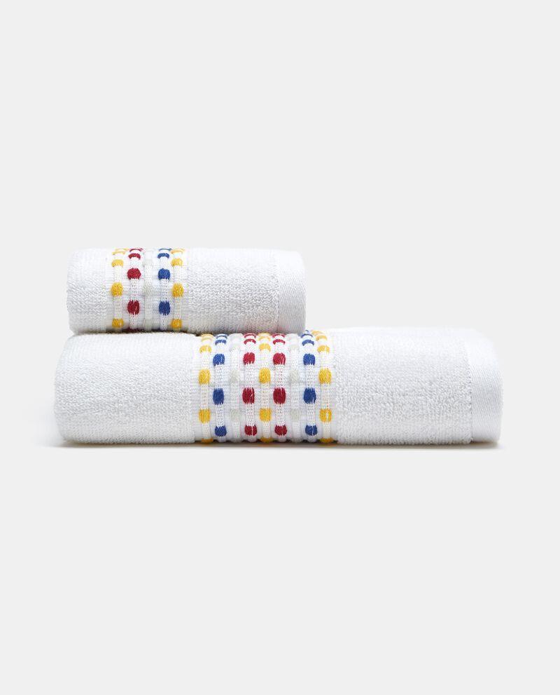 Asciugamano ospite in puro cotone multidots cover