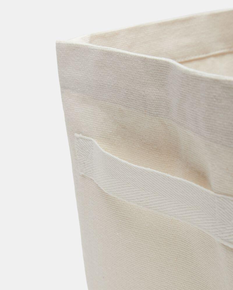 Cesto con manici in puro cotone