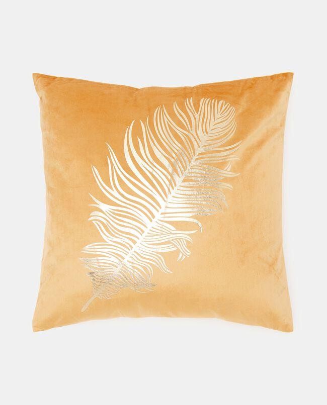 Cuscino con stampa piuma