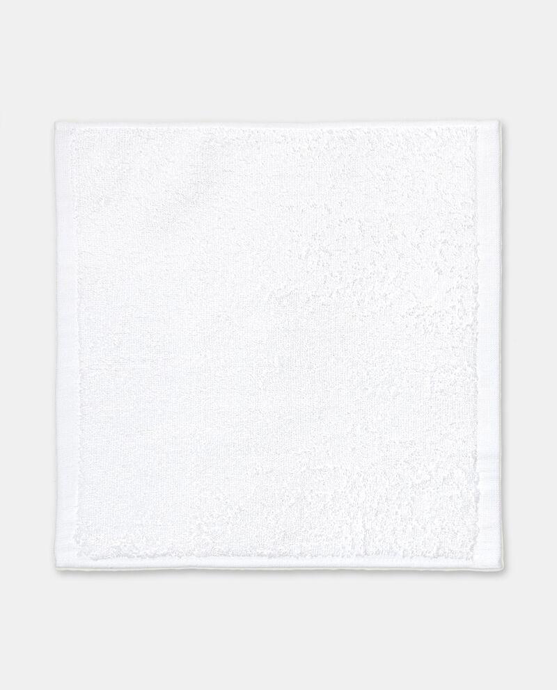 Cestino rettangolare con lavette in puro cotone