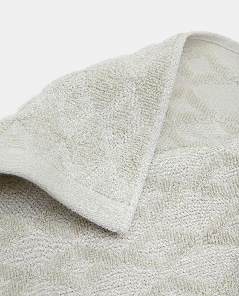 Asciugamano ospite puro cotone con decoro rombi