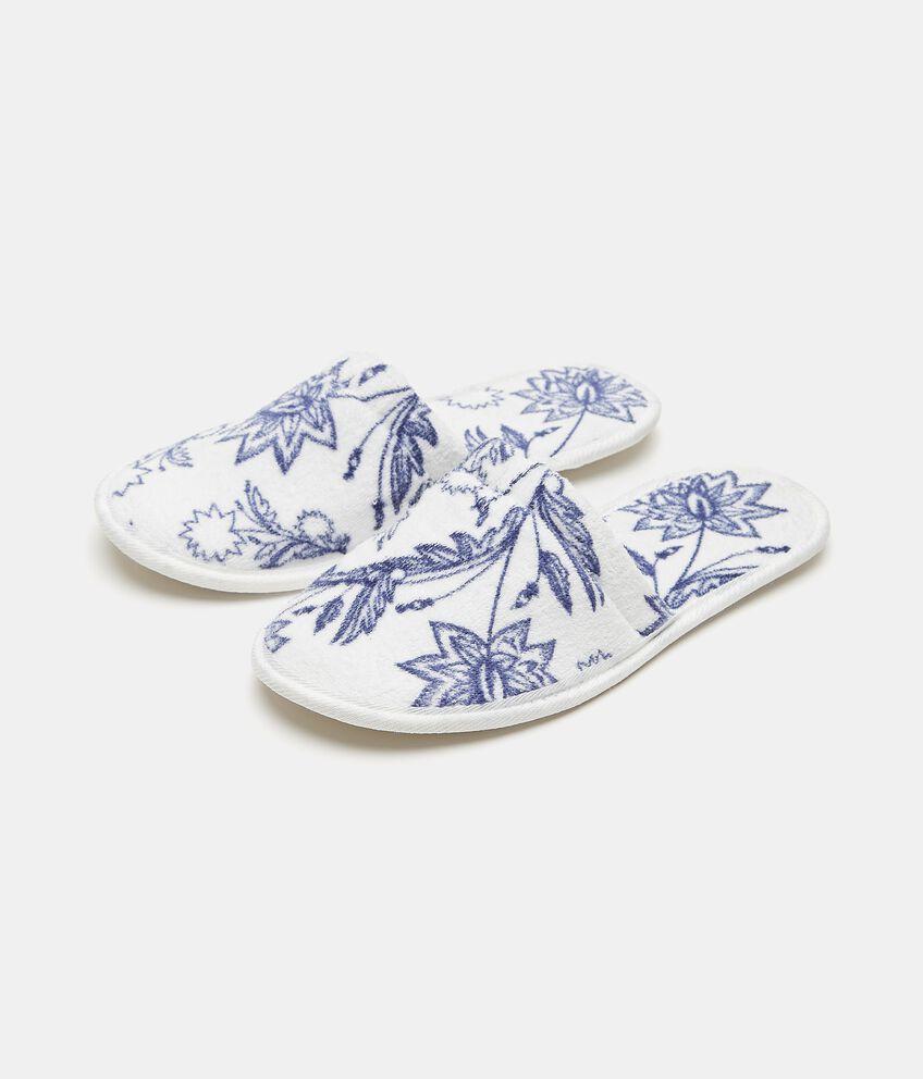 Pantofole con fantasia fiori double 1