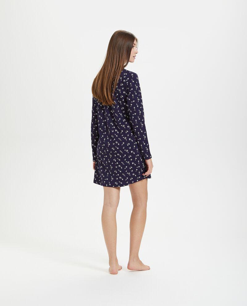Camicia da notte in fantasia di puro cotone
