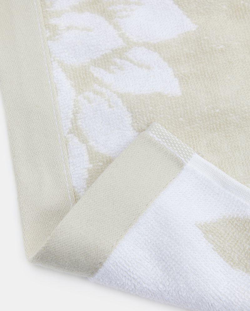 Set con asciugamani puro cotone con decoro floreale