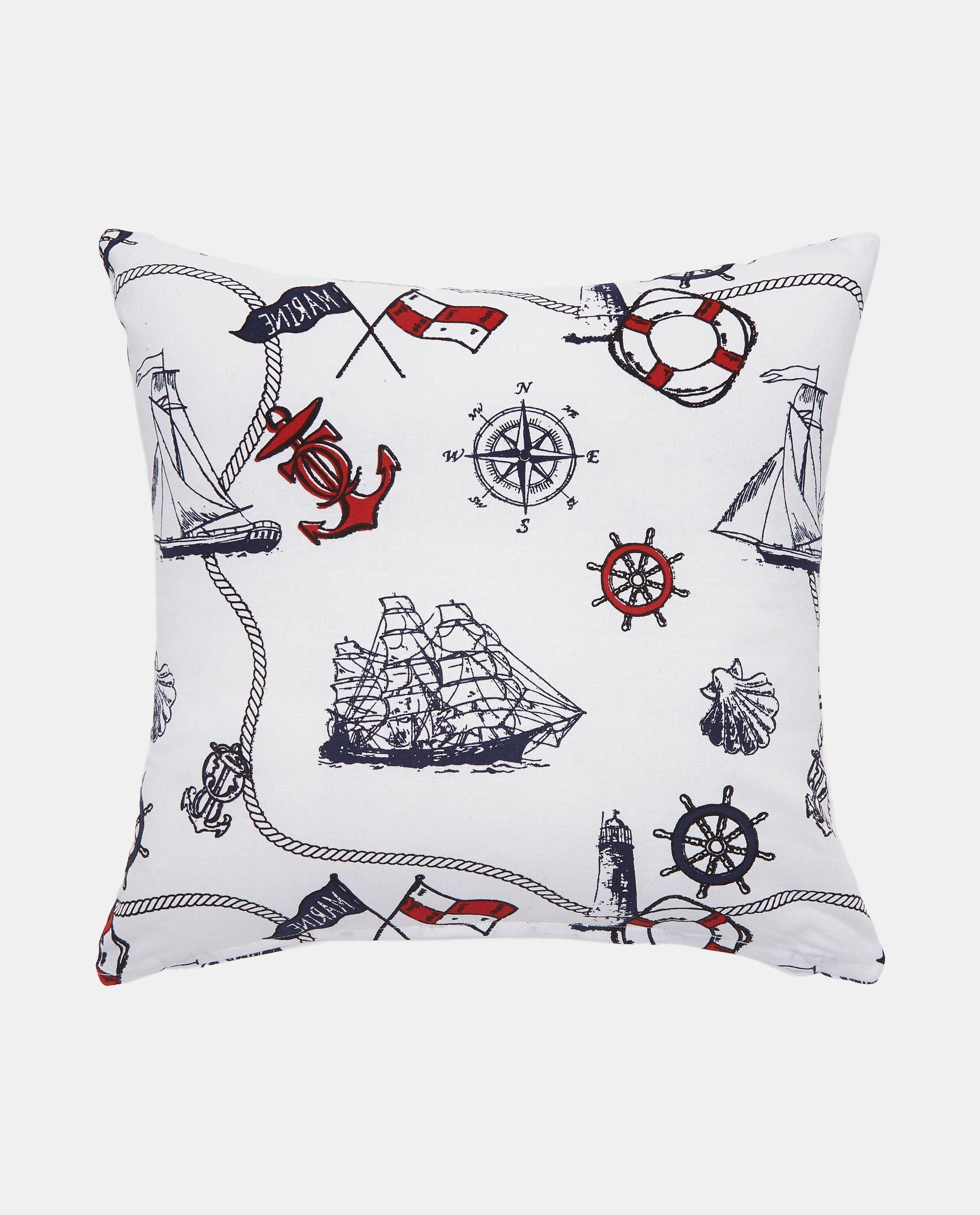 Cuscino con fantasia marina