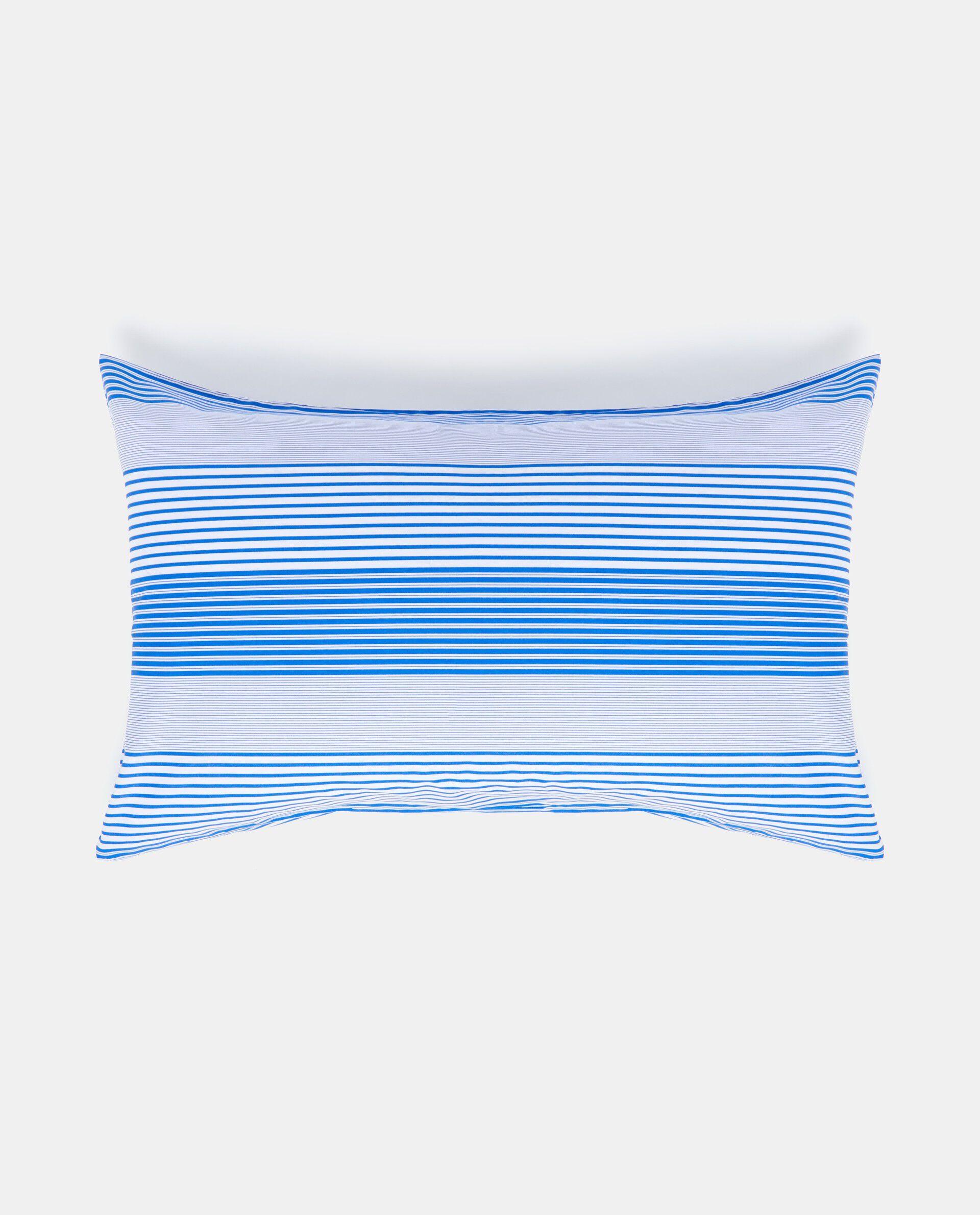 Federa in puro cotone blu con motivo a righe