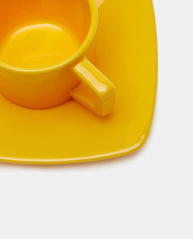 Tazzina con piattino in tinta unita