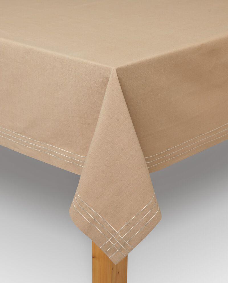 Tovaglia in puro cotone con impunture