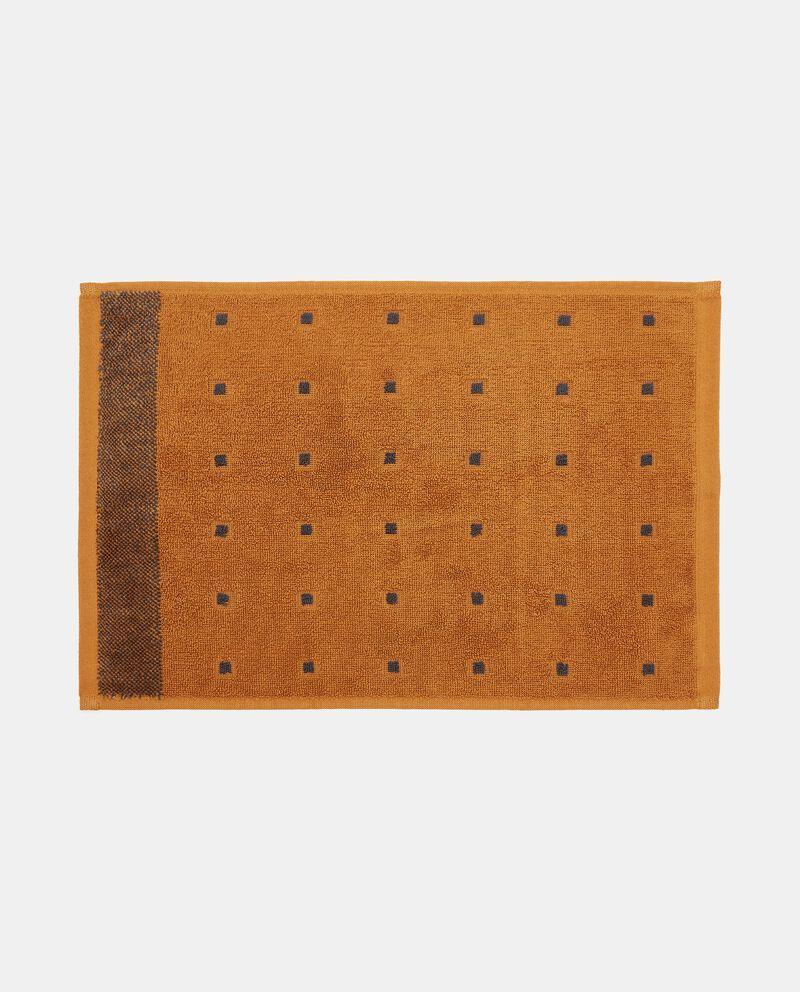Asciugamano mani con decoro micro quadretti puro cotone single tile 1