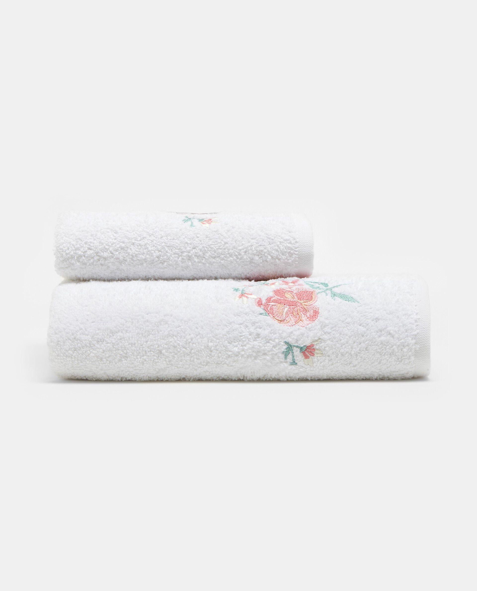 Asciugamano in cotone ricamo rose