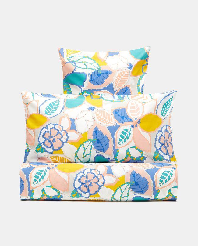 Parure lenzuolo floreale in puro cotone