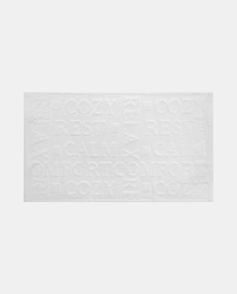 Asciugamano con scritte a decoro