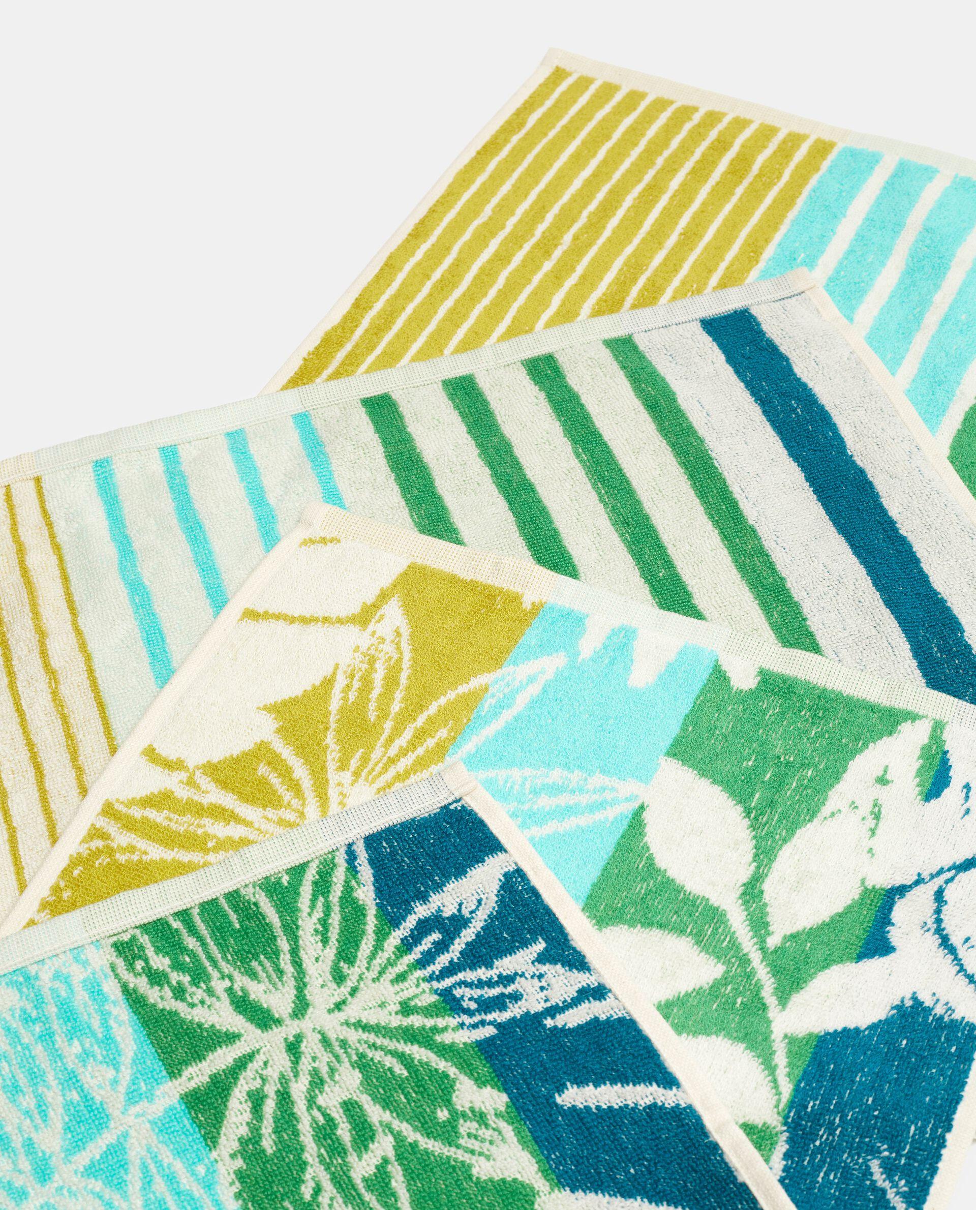 Set asciugamani ospite con decoro in puro cotone