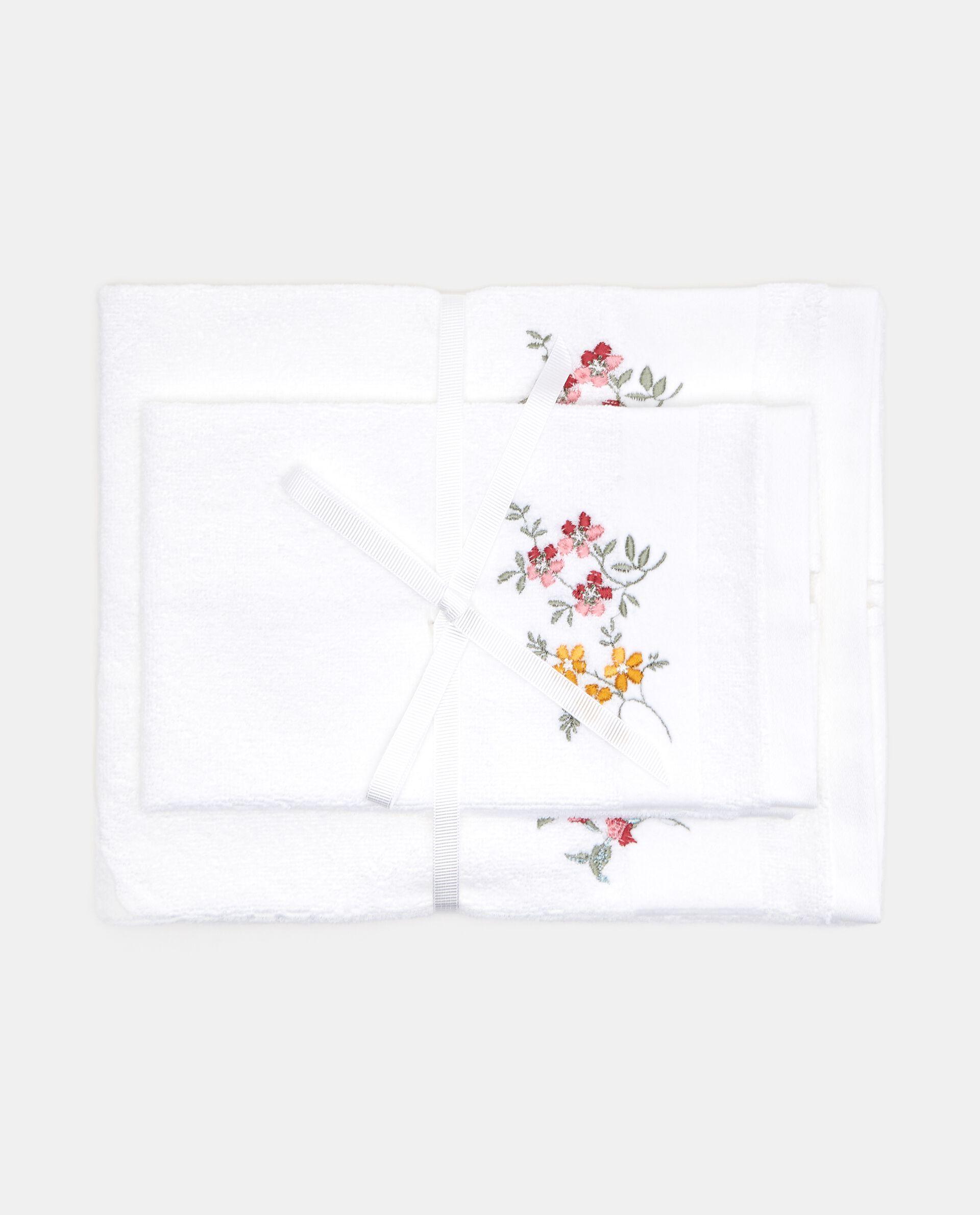 Set asciugamani ricami floreali