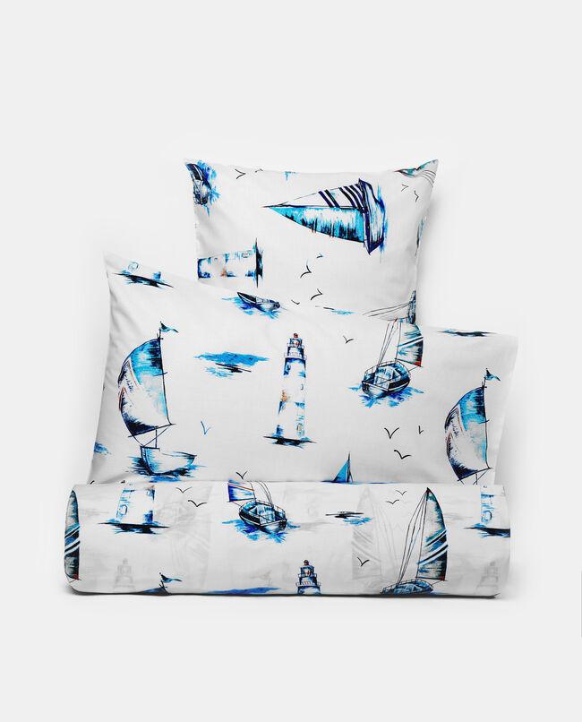 Completo lenzuola con fantasia barche una piazza
