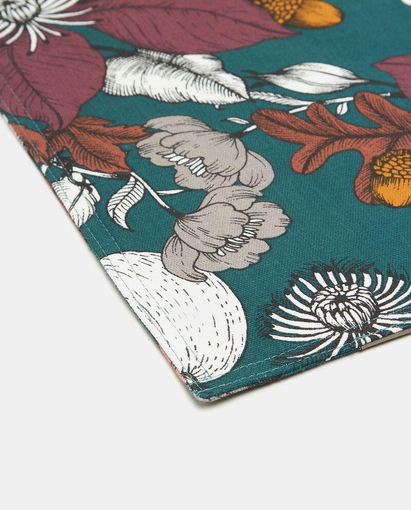 Tovaglietta in puro cotone con fantasia floreale