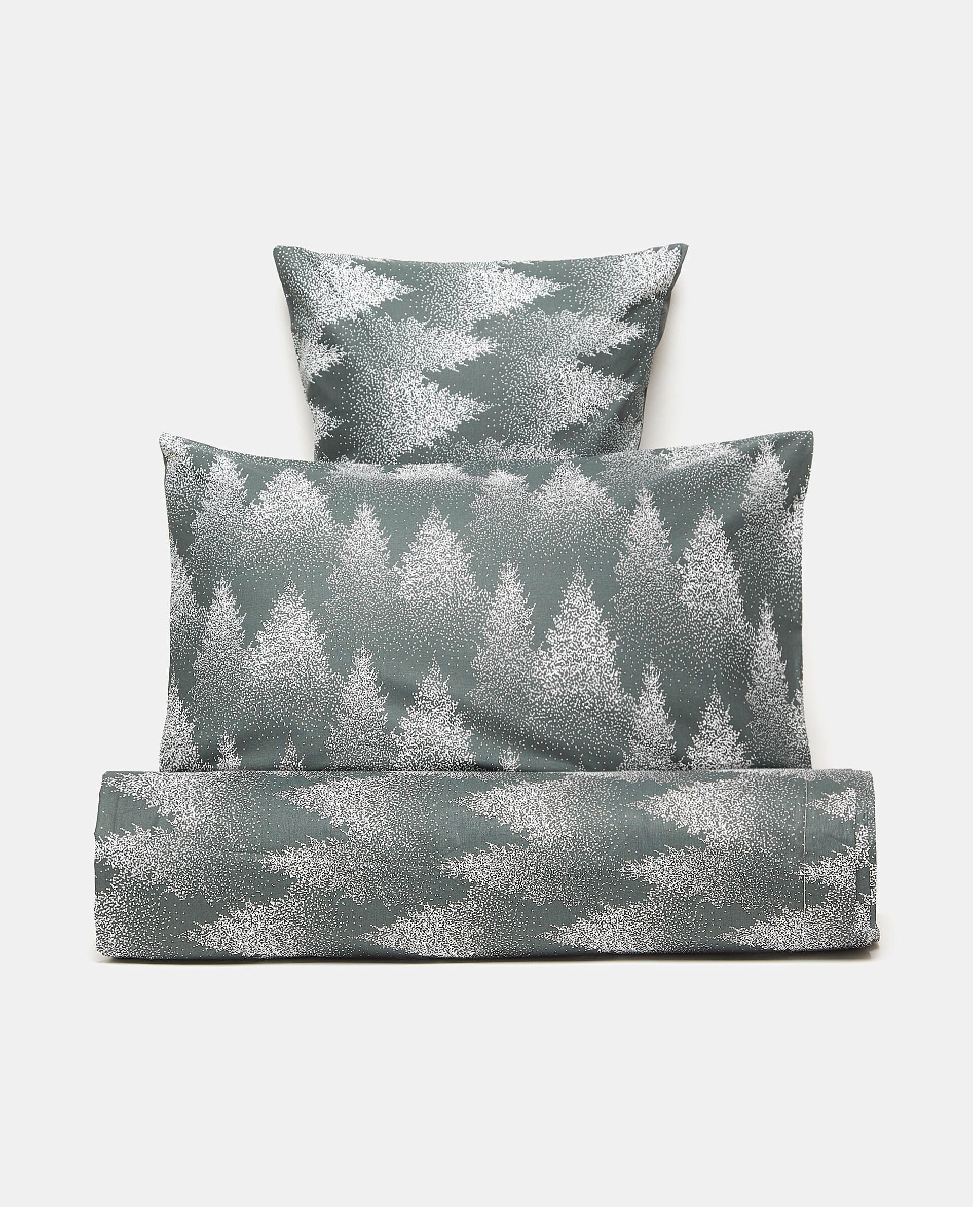 Parure letto con stampa foresta in puro cotone