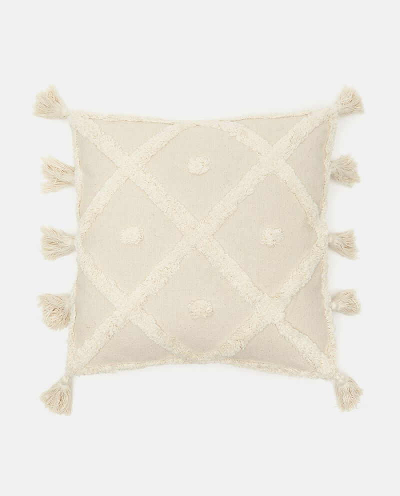 Cuscino con nappine ai lati cover