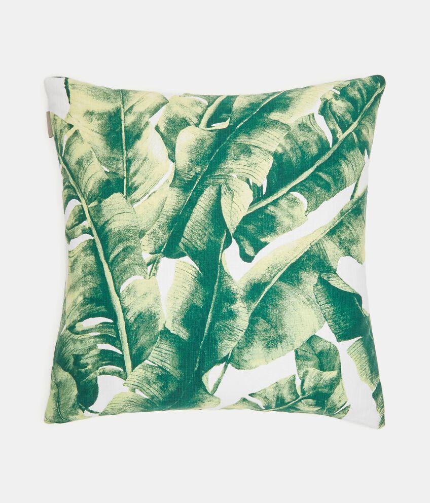 Cuscino in fantasia tropicale