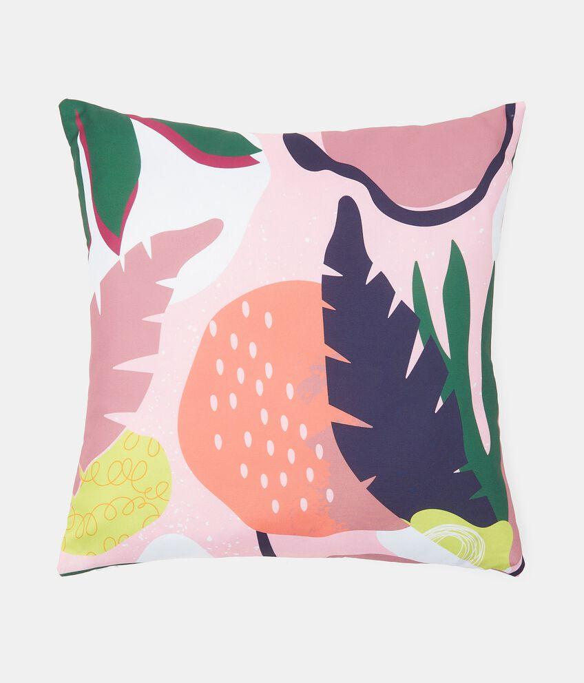 Cuscino con stampa tropical