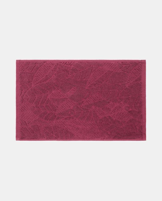 Asciugamano ospite in puro cotone con foglie in rilievo