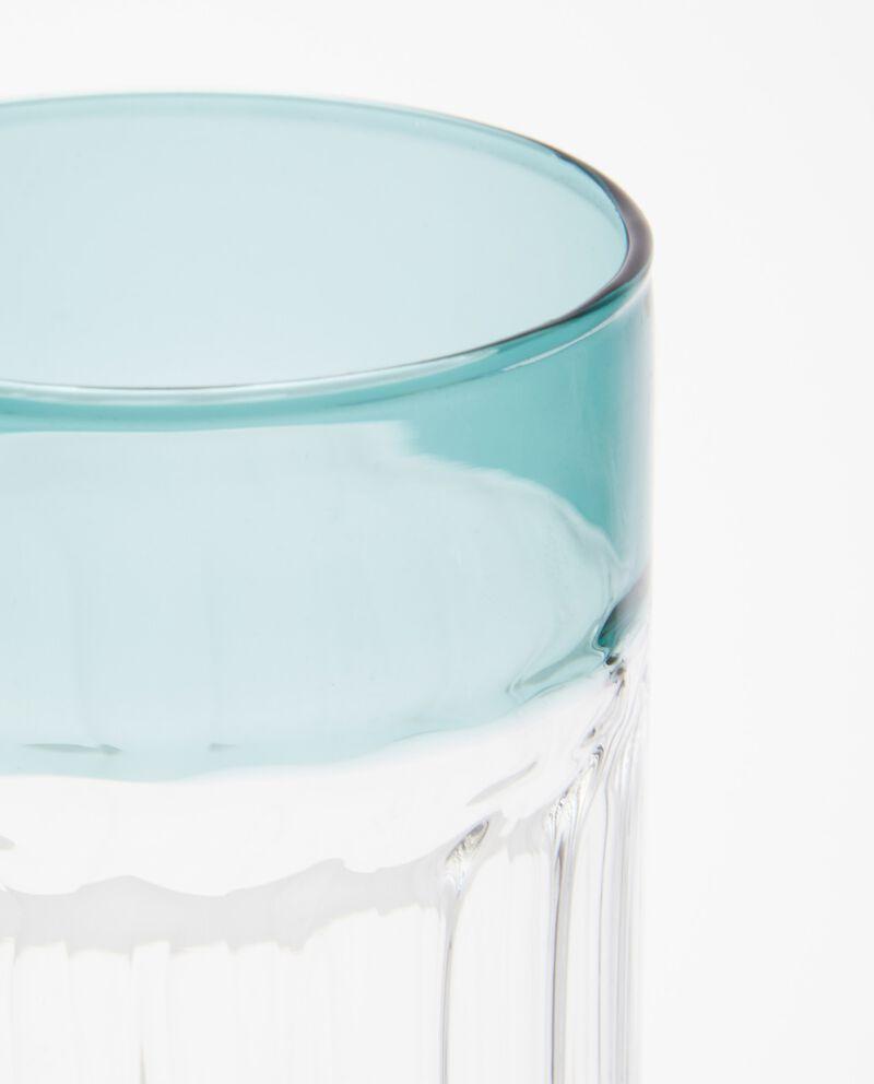 Bicchiere con bordo a contrasto