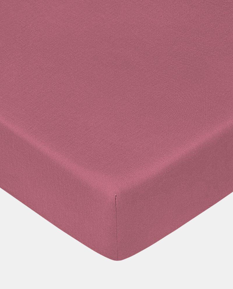 Lenzuolo matrimoniale con angoli tinta unita in puro cotone cover